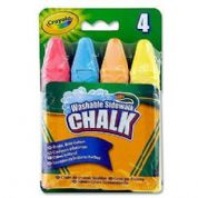 Crayola Washable  Coloured Chalk 4pk